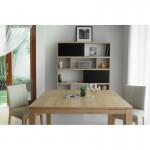 Table à manger extensible AIMEE en chêne massif (chêne naturel) (140/190x140cmx76cm)