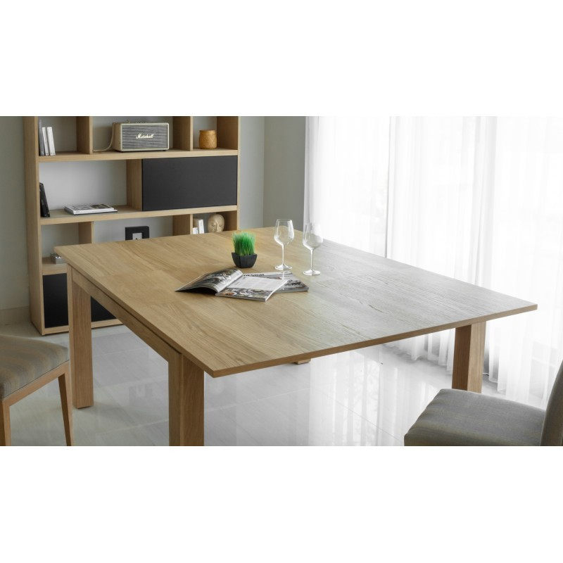 Table expandable aimee solid oak natural oak 140 for Table chene massif extensible