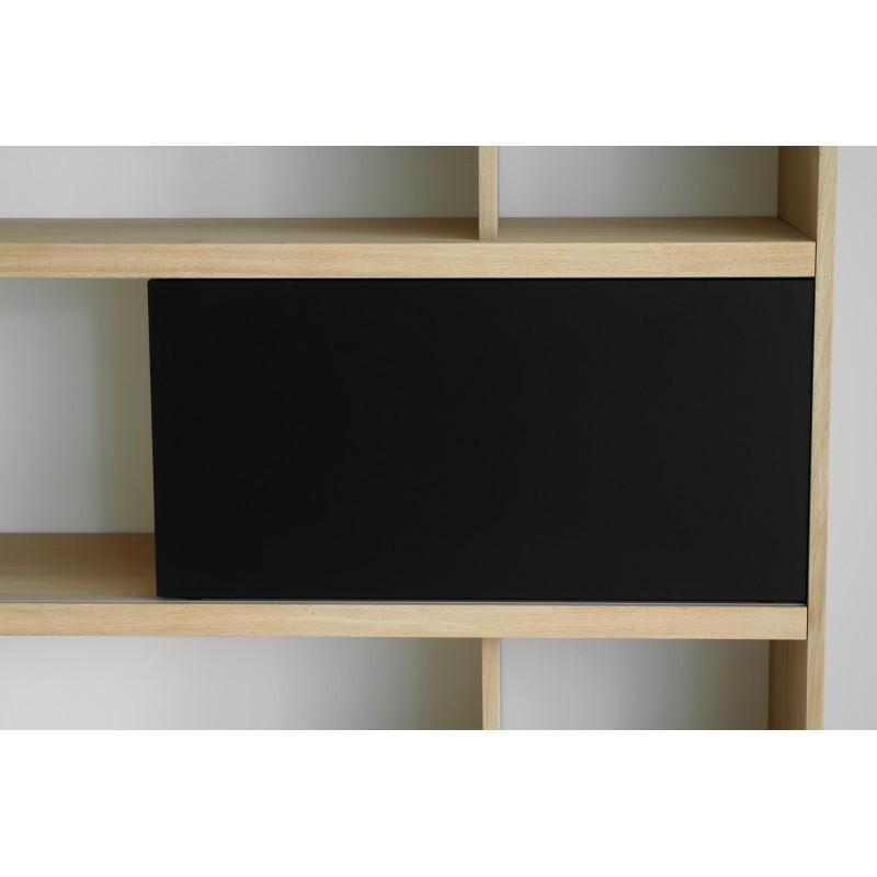 Etagère bibliothèque design EVA en chêne massif (chêne naturel, noir) - image 36067