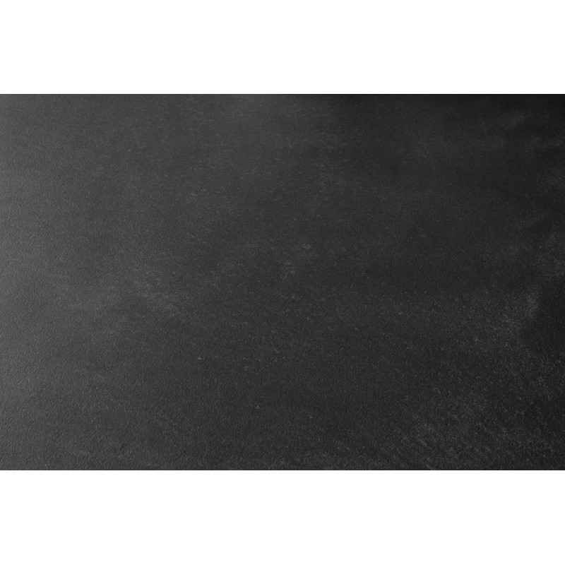 Table à manger contemporaine BOUBA en chêne massif et revêtement minéral (chêne, noir) - image 36083