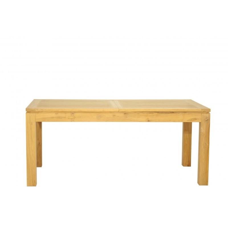 table manger extensible contemporaine fedot en teck massif 190 230x90x77cm naturel. Black Bedroom Furniture Sets. Home Design Ideas