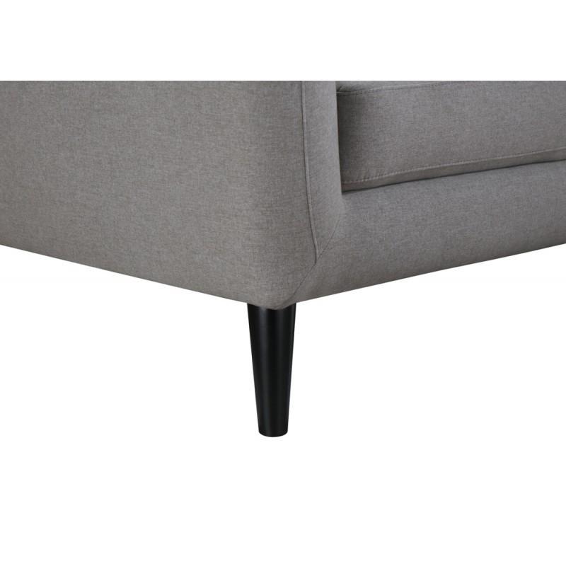Scandinavo fissa diritto divano 3 posti tessuto VLADA (grigio chiaro) - image 36319