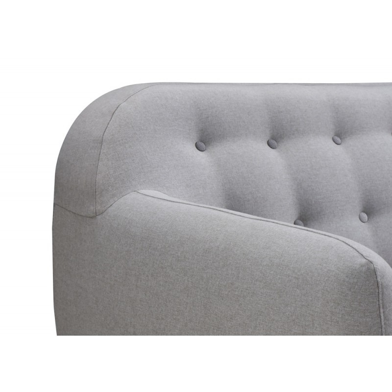 Scandinavo fissa diritto divano 3 posti tessuto VLADA (grigio chiaro) - image 36320