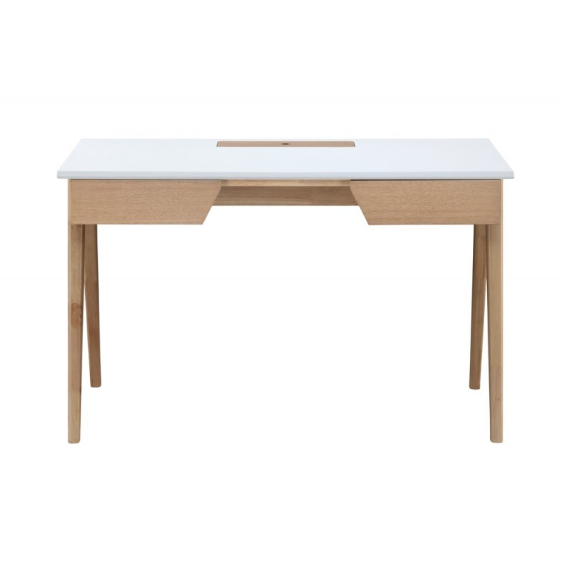 Right office design and Scandinavian TIMEO wooden 120 cm (clear, white oak)