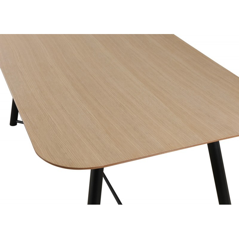 Table à manger design ADAMO en bois (180X90X75cm) (chêne clair, noir) - image 36355