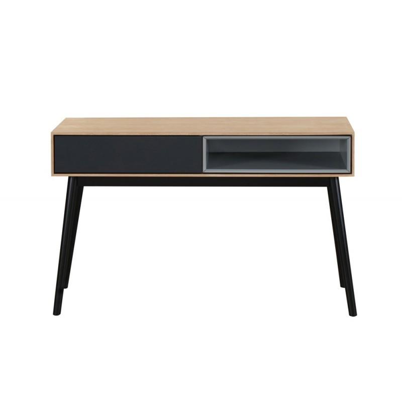 Konsole Design 1 Nische ADAMO 1 Schublade aus Holz (Eiche hell)