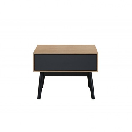 Side table, the end of the sofa design ADAMO 1 drawer in wood (light oak)