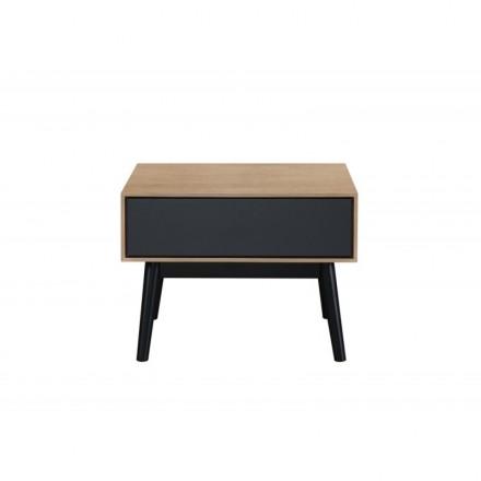 Table D Appoint Bout De Canape Design 1 Tiroir Adamo En Bois Chene