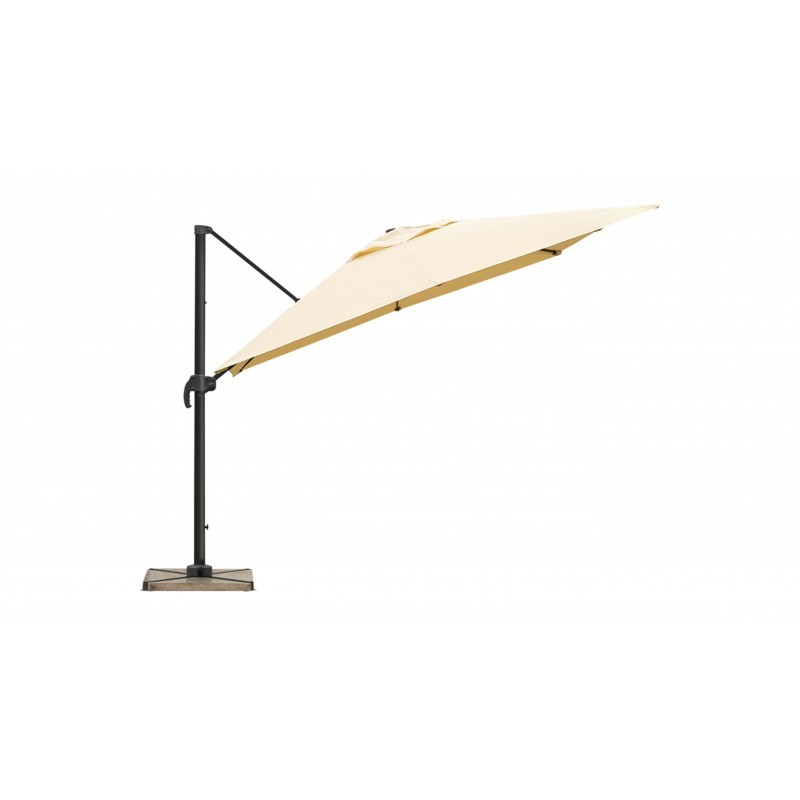 Parasol deported square with ventilation 2.5 m x 2.5 m NIKA (beige)
