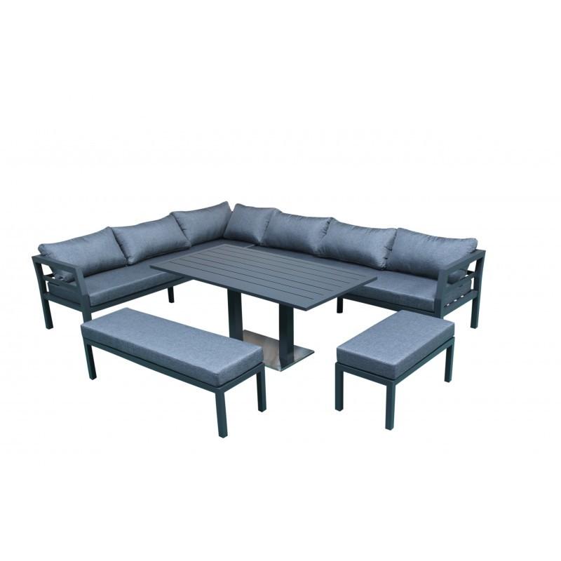 Giardino camera 12 posti in alluminio NESTOR (grigio) - image 36540