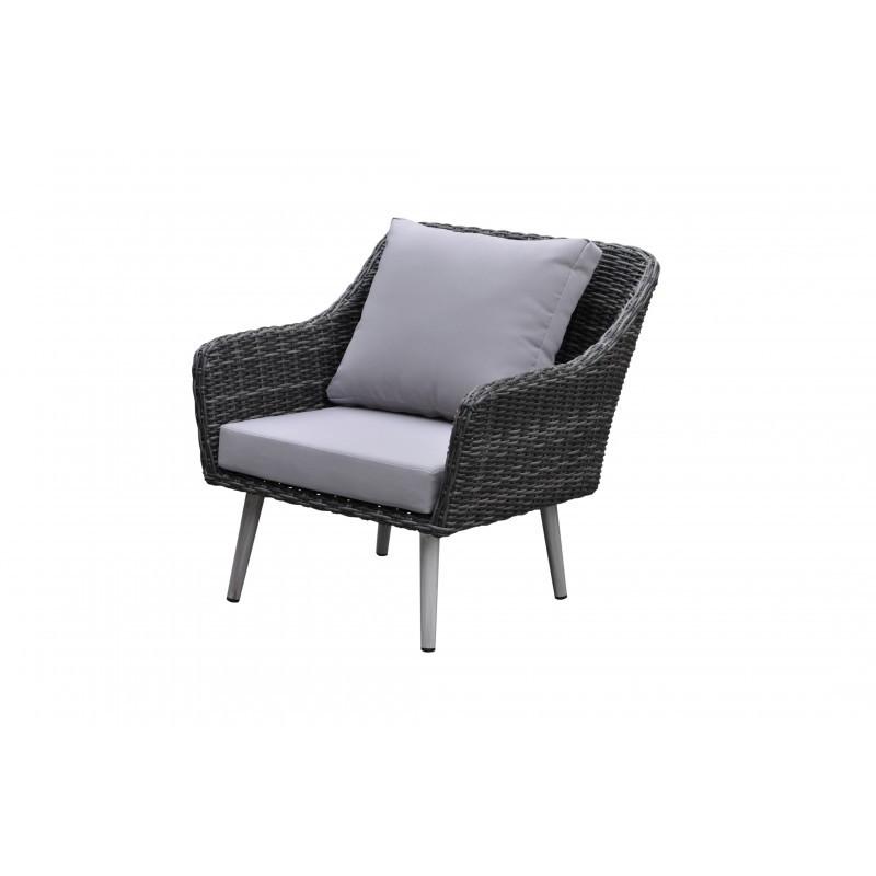 Salon de jardin 6 places HIPPOLYTE en résine tressée (gris) - image 36561