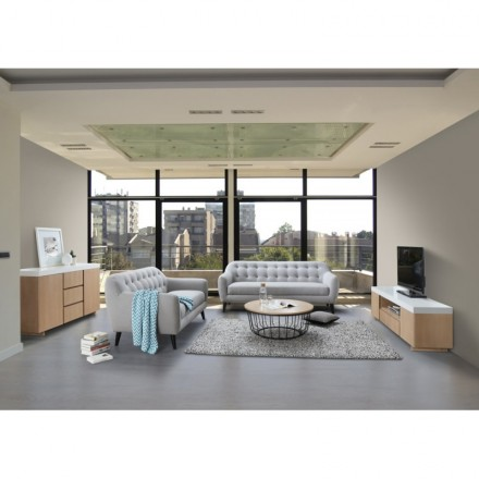 buffet enfilade 2 portes 3 tiroirs design et scandinave. Black Bedroom Furniture Sets. Home Design Ideas