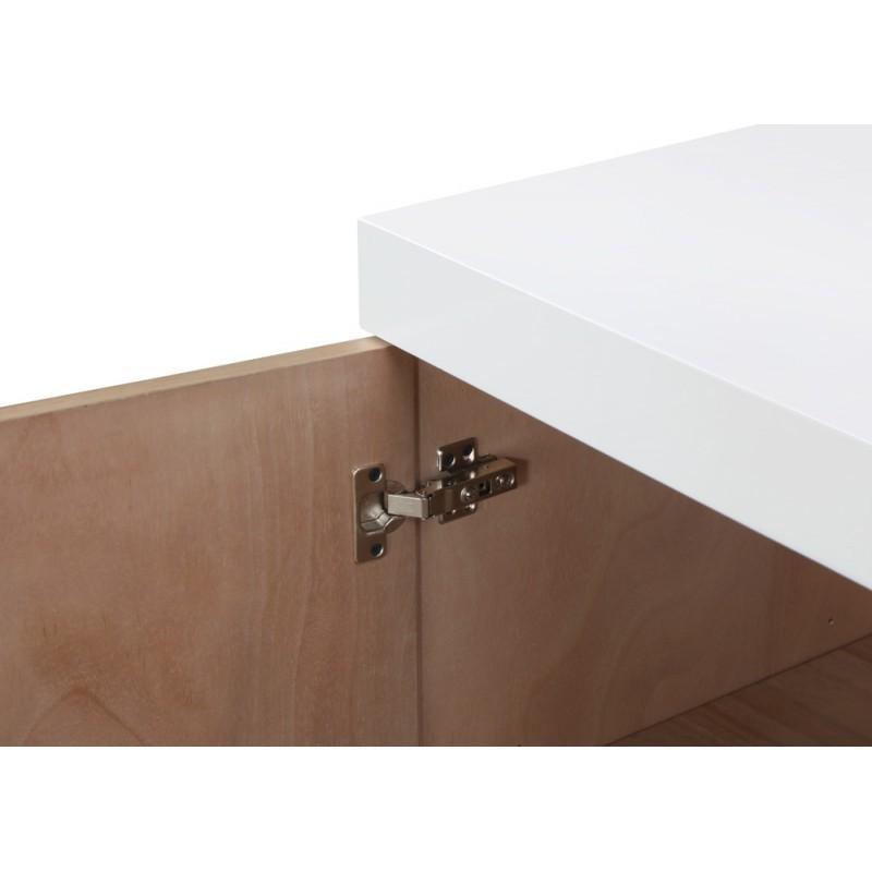 Buffet la fila 2 puertas, 3 cajones diseño y EMMA escandinavo madera (roble claro, de blanco) - image 36578