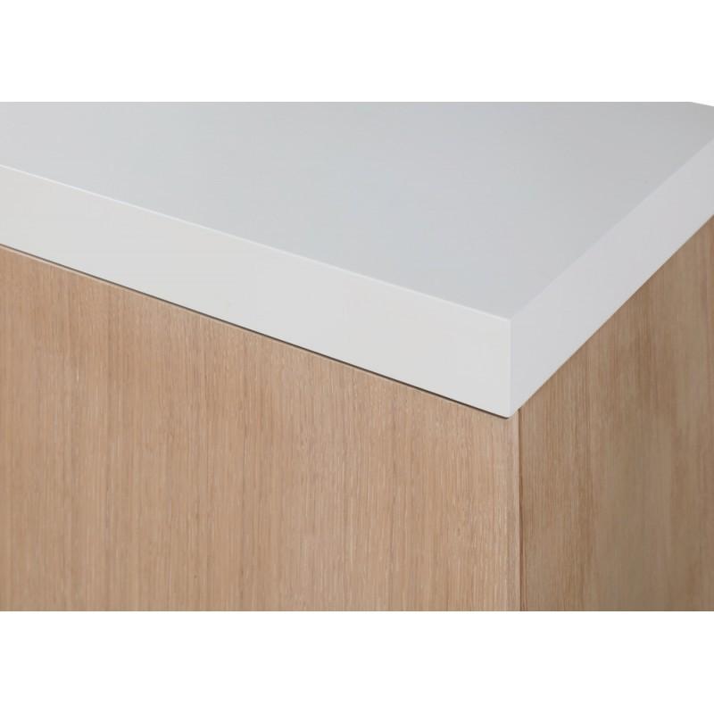 Buffet la fila 2 puertas, 3 cajones diseño y EMMA escandinavo madera (roble claro, de blanco) - image 36579