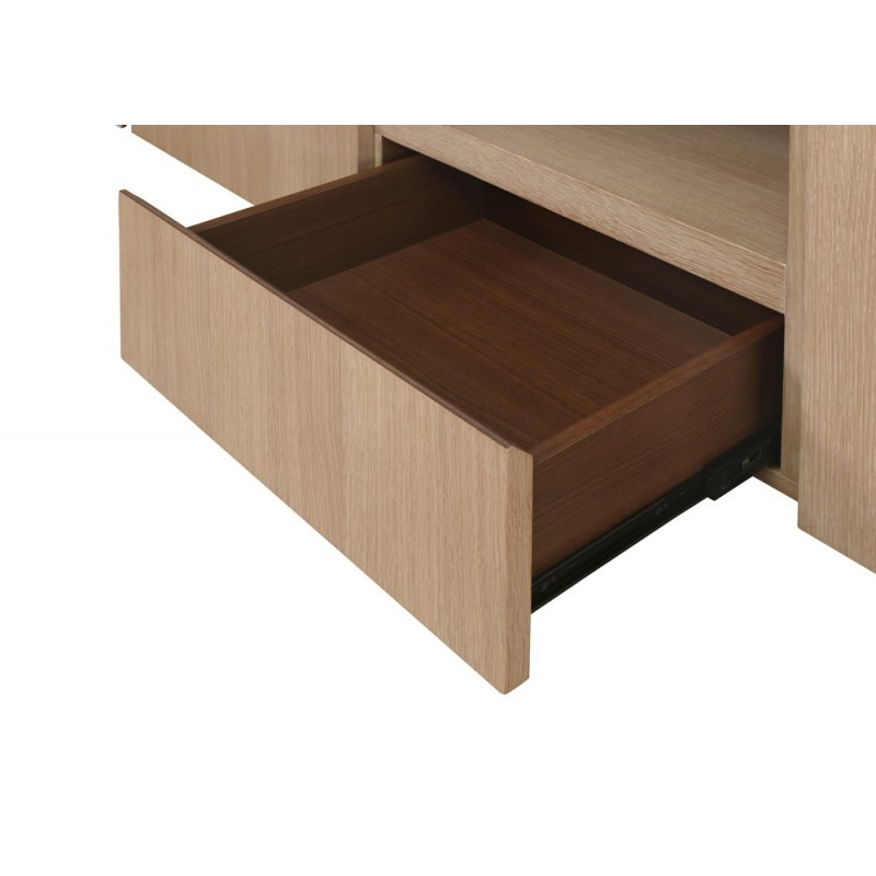 Buffet la fila 2 puertas, 3 cajones diseño y EMMA escandinavo madera (roble claro, de blanco) - image 36581