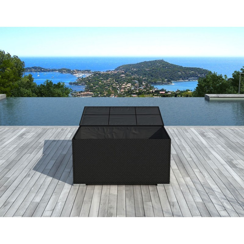 Chest BOX storage in woven resin (black) - image 36583