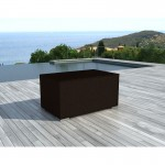 Chest BOX storage in woven resin (Brown)
