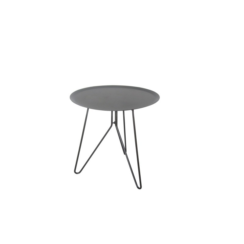 Table low end design table MAKAR (gray) painted metal