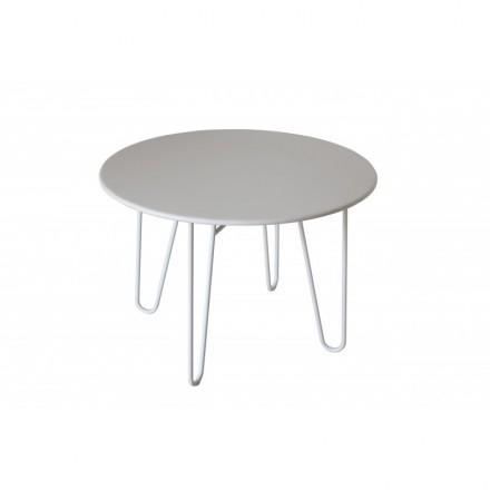 Esstisch rund PAVEL (weiß) lackiert Metall