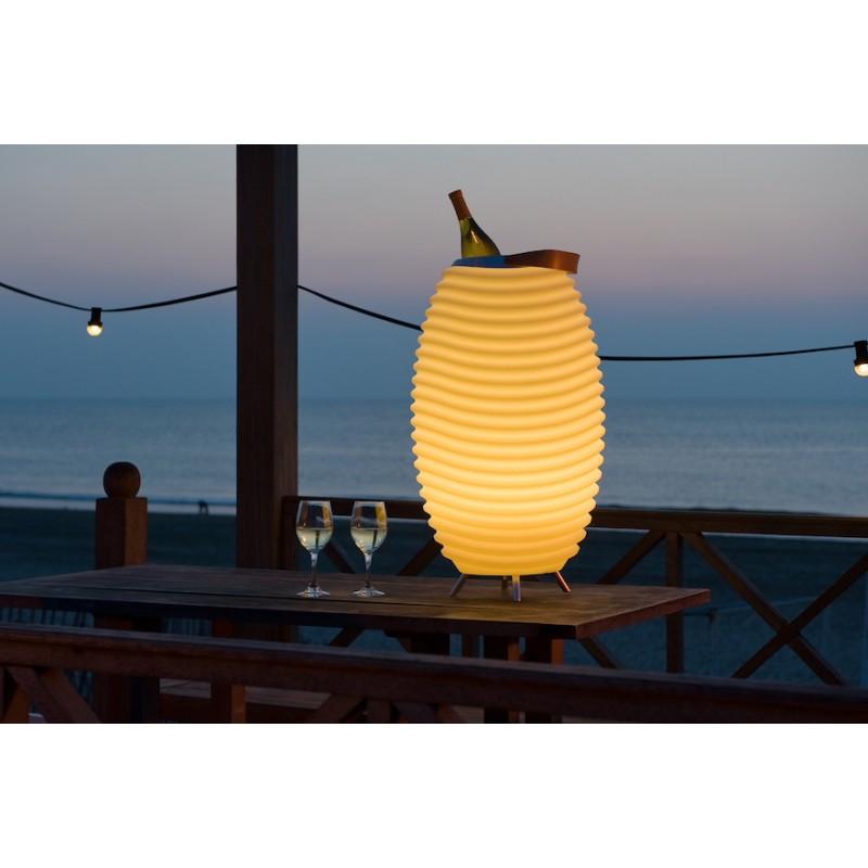 Lampe LED seau à champagne haut-parleur enceinte bluetooth KOODUU SYNERGIE S 65 (blanc) - image 36650