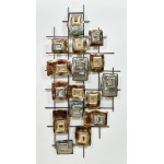 GEOMETRIC wall sculpture in metal (silver, beige, Brown)