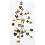 CIRCLE wall sculpture in metal (silver, beige, Brown)