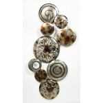 ORBIT wall sculpture in metal (silver, beige, Brown)