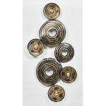 SPHERE (silver, beige, Brown) metal wall sculpture