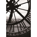 Painting on glass clock (black, white)