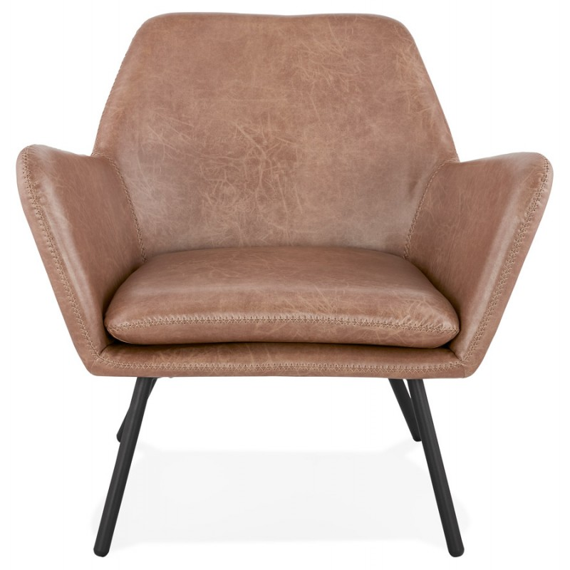 Fauteuil lounge design et r tro hiro marron for Fauteuil retro design