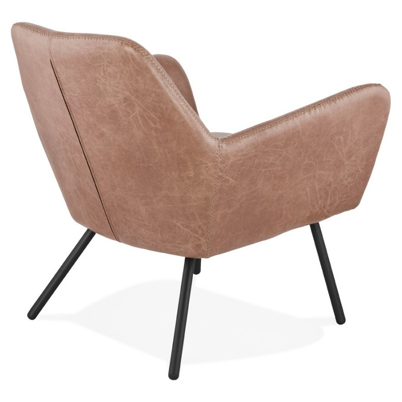 Lounge chair design and retro HIRO (Brown) - image 36727