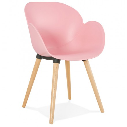 Design chair style Scandinavian LENA polypropylene (powder pink)