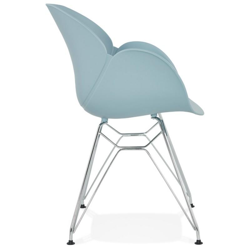 Design stuhl industriellen stil tom fu verchromten metall for Design stuhl metall