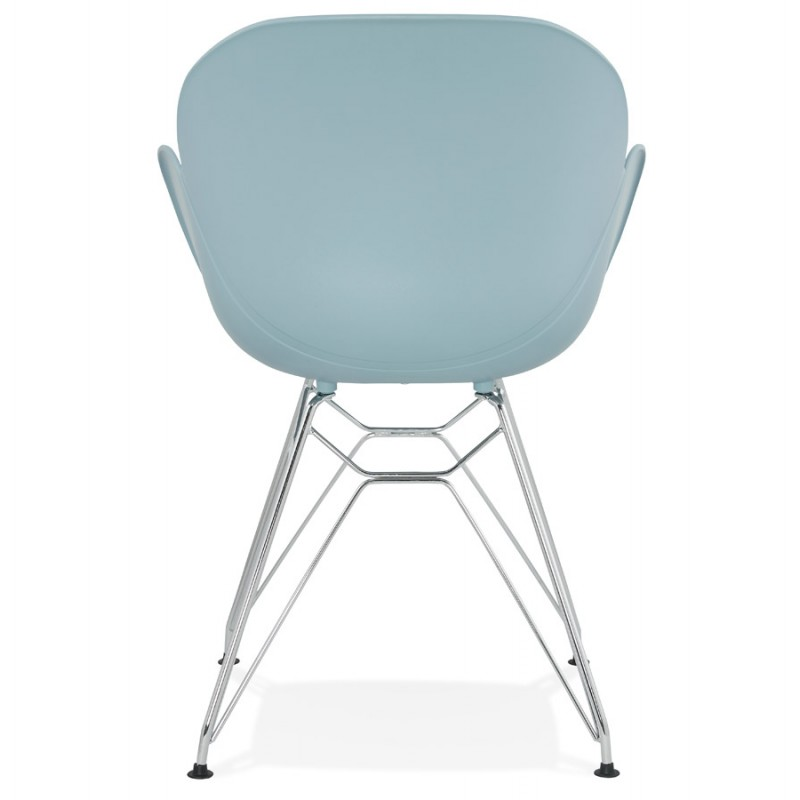 Design chair industrial style TOM foot chromed metal polypropylene (sky blue) - image 36772