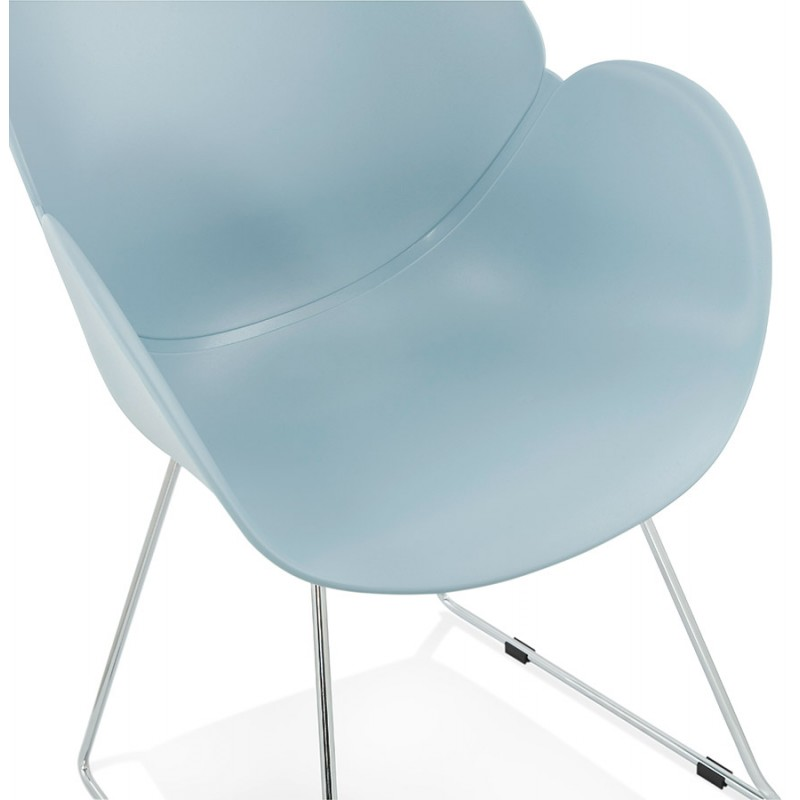 Design chair foot tapered ADELE polypropylene (sky blue) - image 36786