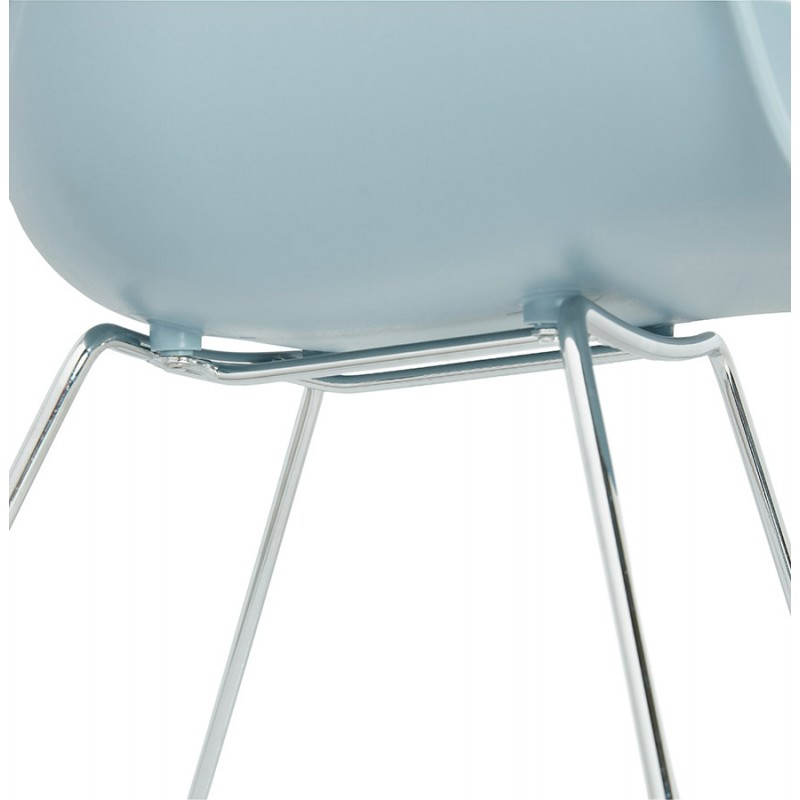 Design chair foot tapered ADELE polypropylene (sky blue) - image 36789