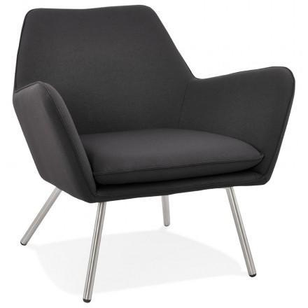 Fauteuil lounge design YORI en tissu (gris anthracite)