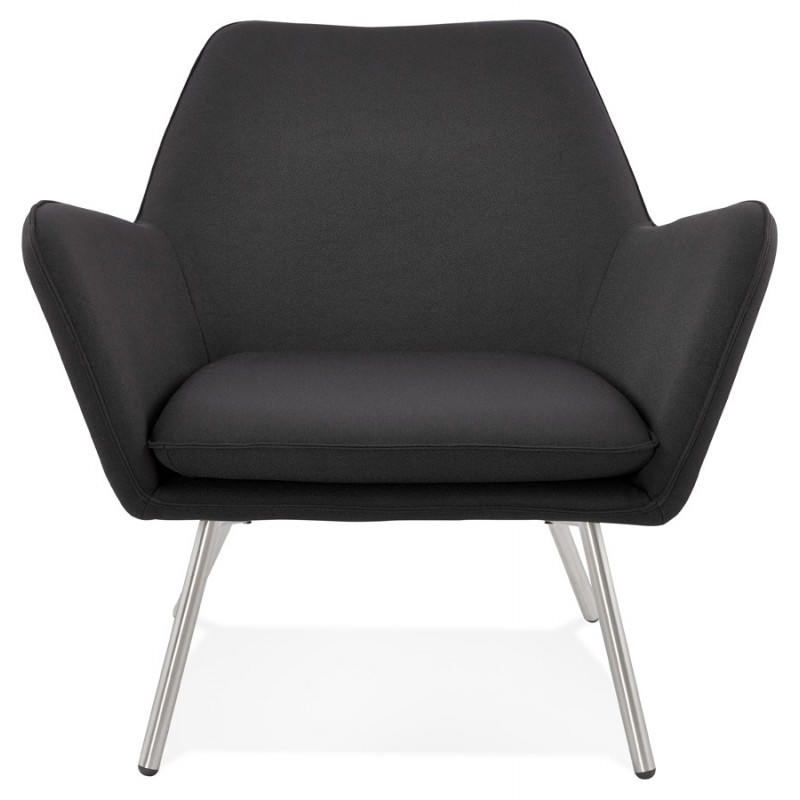 Design lounge YORI fabric Chair (charcoal gray) - image 36795
