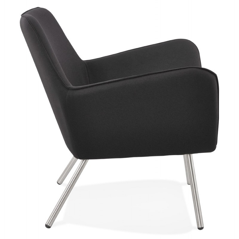Design lounge YORI fabric Chair (charcoal gray) - image 36796