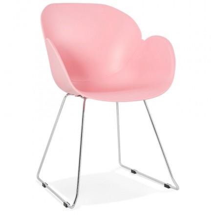 Design chair foot tapered ADELE polypropylene (powder pink)
