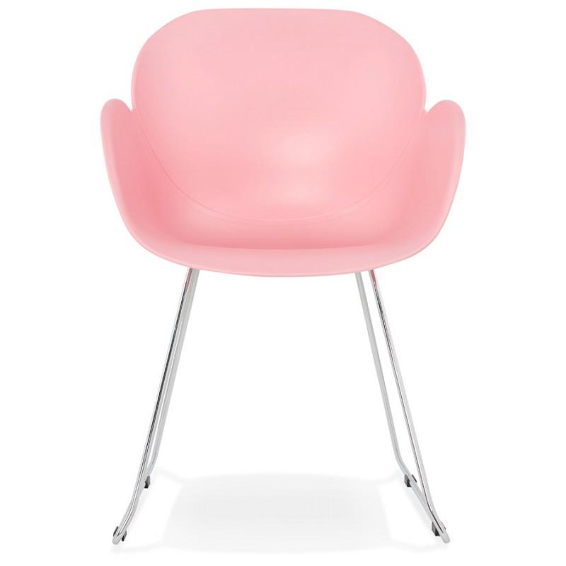 Design Stuhl Fuß konisch ADELE Polypropylen (rosa Pulver) - image 36882