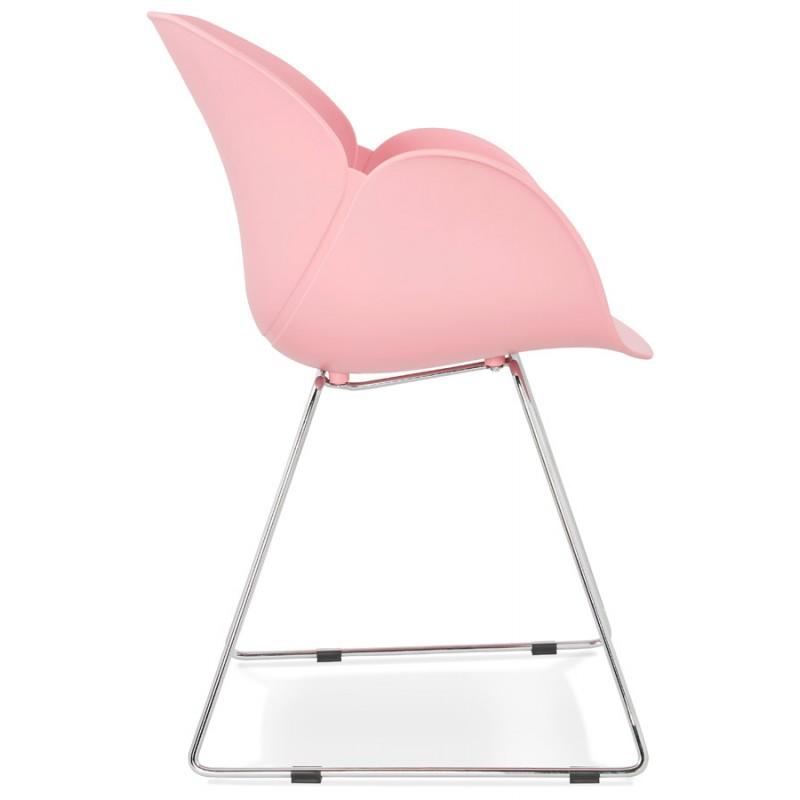 Design Stuhl Fuß konisch ADELE Polypropylen (rosa Pulver) - image 36883