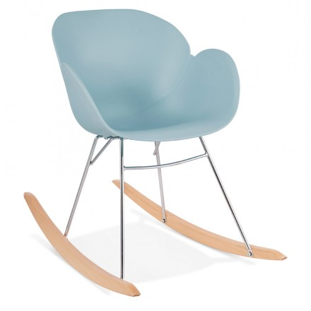 Rocking design EDEN (sky blue) polypropylene Chair