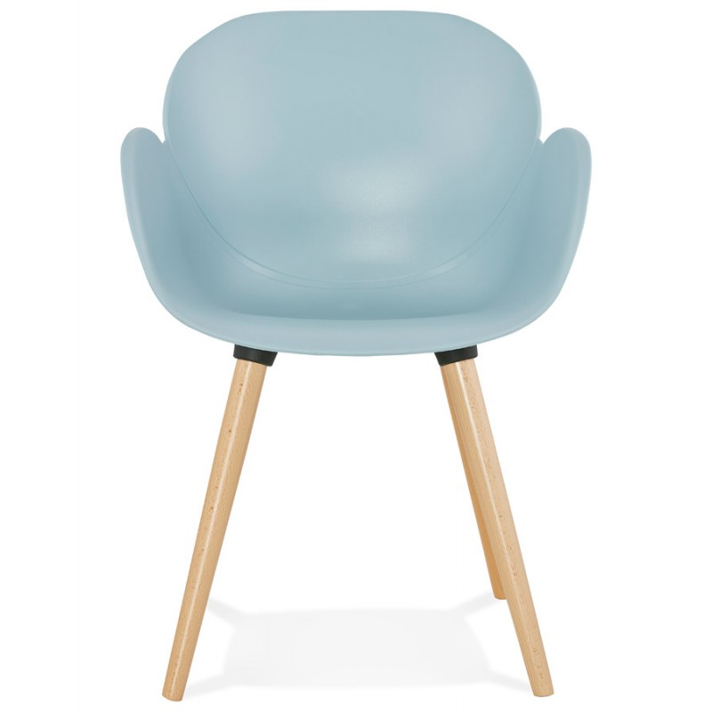 Design chair style Scandinavian LENA polypropylene (sky blue) - image 36947