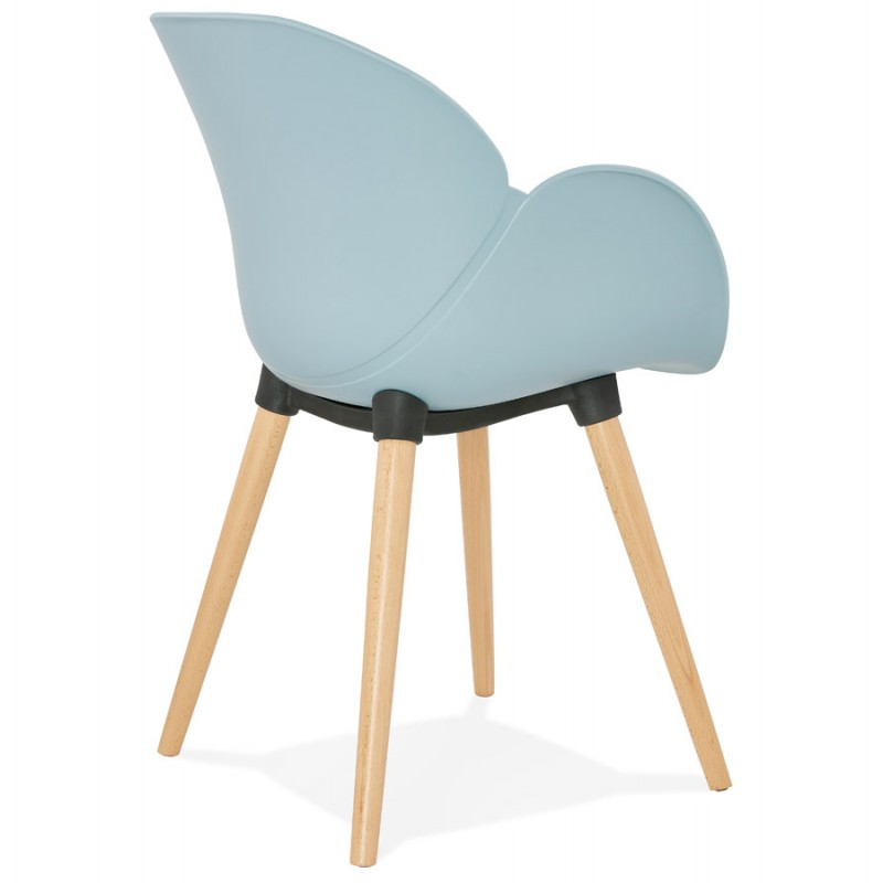 Design chair style Scandinavian LENA polypropylene (sky blue) - image 36949