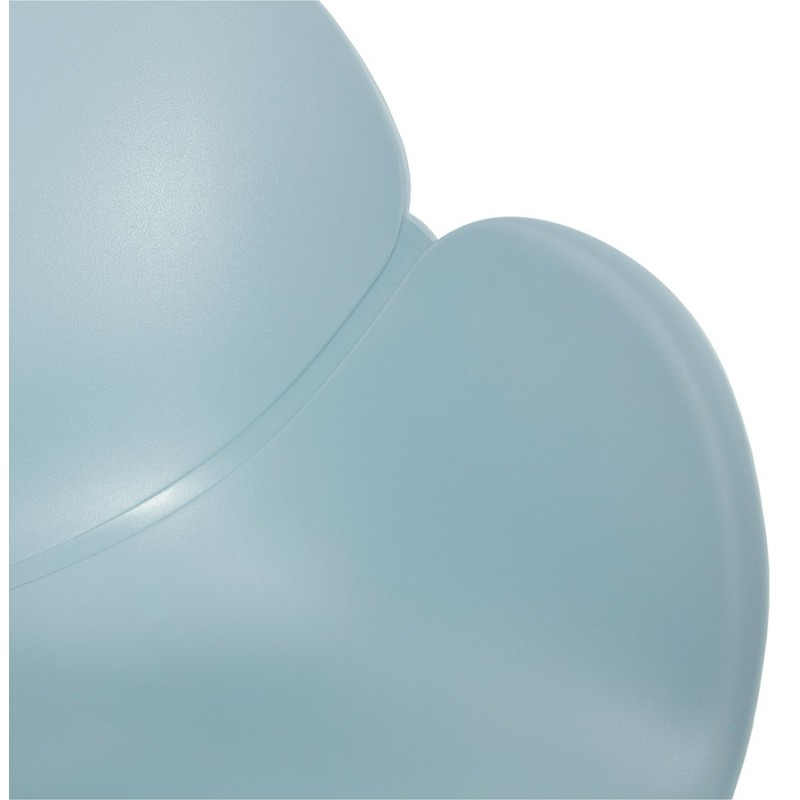 Design chair style Scandinavian LENA polypropylene (sky blue) - image 36952