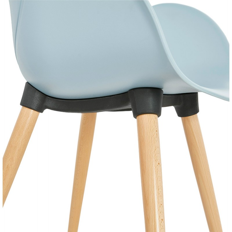 Design chair style Scandinavian LENA polypropylene (sky blue) - image 36954