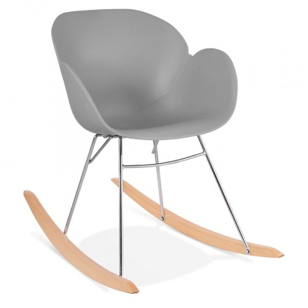 Rocking design EDEN (light gray) polypropylene Chair