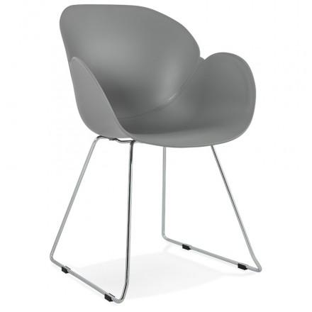 Pies de silla de diseño cónica de polipropileno de ADELE (gris claro)