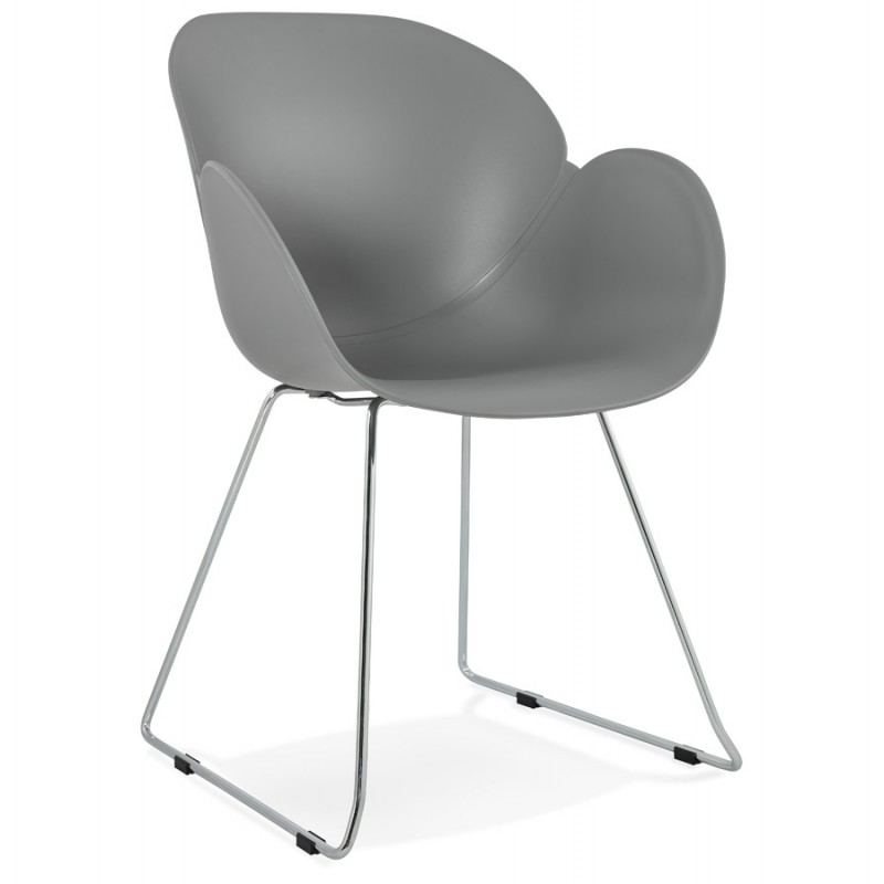Design chair foot tapered ADELE polypropylene (light gray) - image 36984
